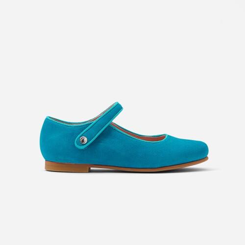Pantofi de fete Mary Jane din piele intoarsa