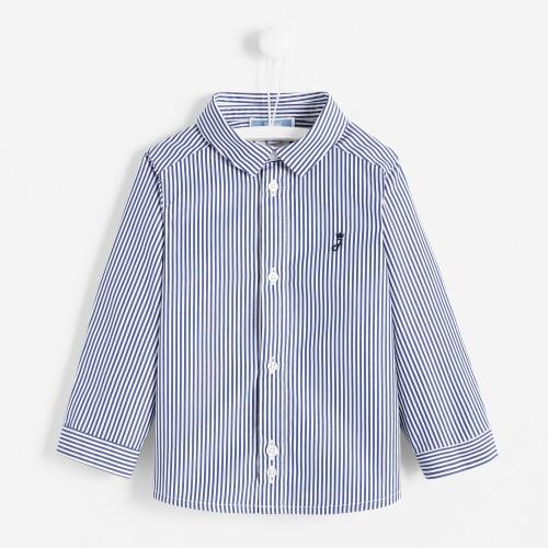 Toddler boy striped poplin shirt