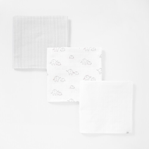 Set of 3 swaddling cloths