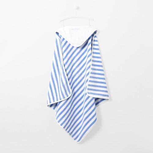 Striped hooded bath towel