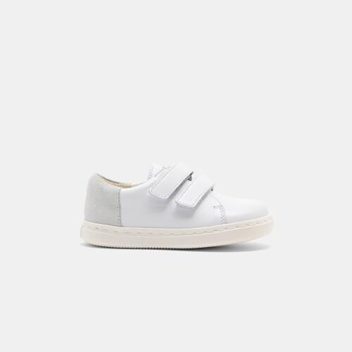 Sneakers din piele netedă pentru băieți