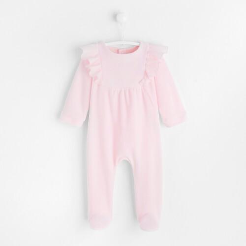 Pijamale  cu picior si  volane bebelusi fete