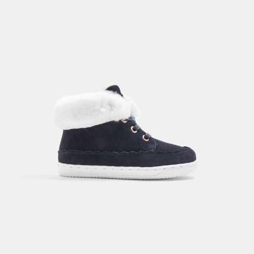 Baby girl lined sneakers