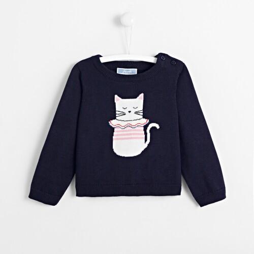 Pulover pisica Intarsia fetite