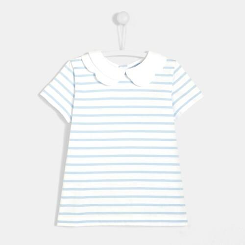 Girl striped polo
