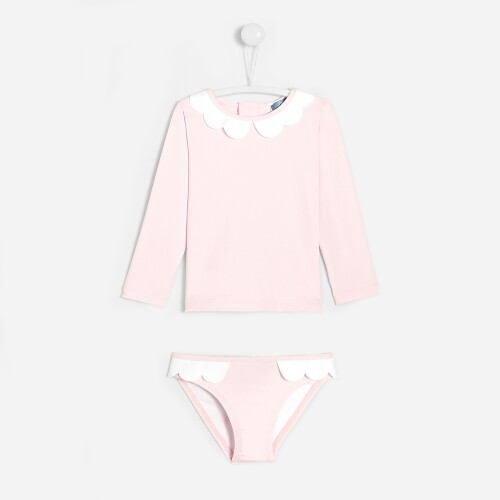 Toddler girl UV protection bathing suit