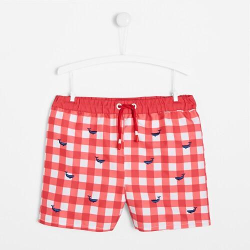 Pantaloni de baie gingham baieti