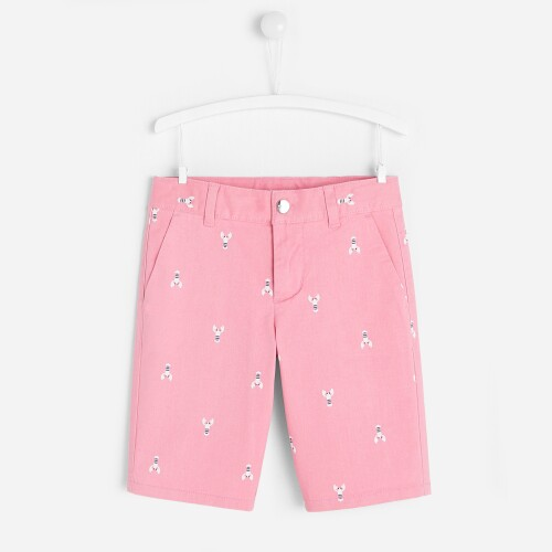 Boy Bermuda shorts with lobster motif
