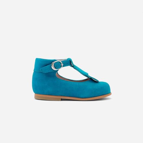 Pantofi Mary Jane din piele de caprioara