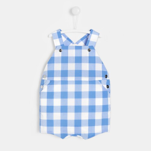 Baby boy gingham overalls