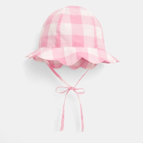 Baby girl gingham hat