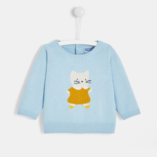 Baby girl Intarsia mouse sweater