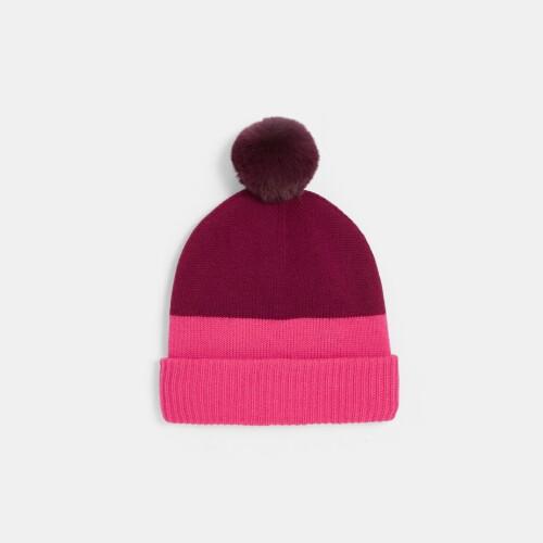 Girl color block hat