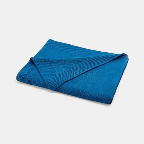 Garter stitch knit blanket