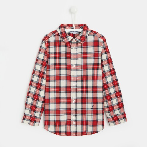 Boy checked button-down shirt