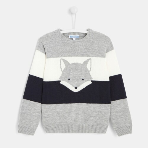 Boy sweater with fox motif