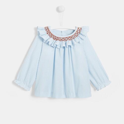 Toddler girl striped blouse
