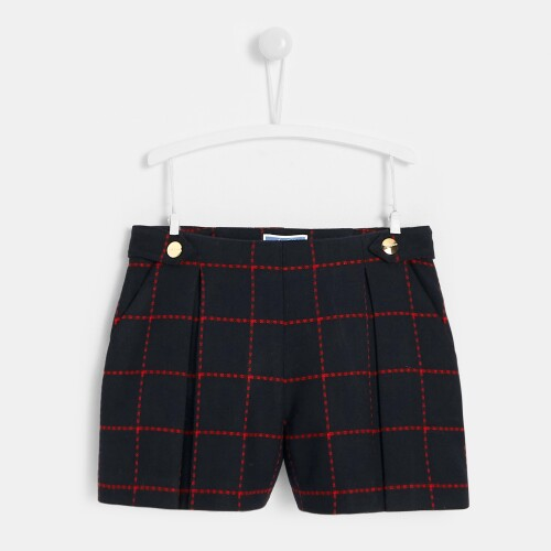 Girl flannel culottes