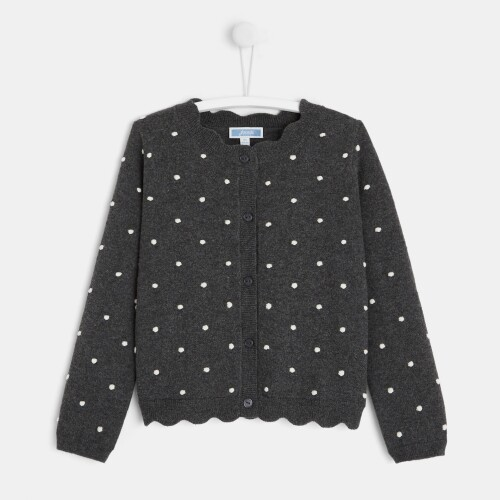 Girl polka dot cardigan