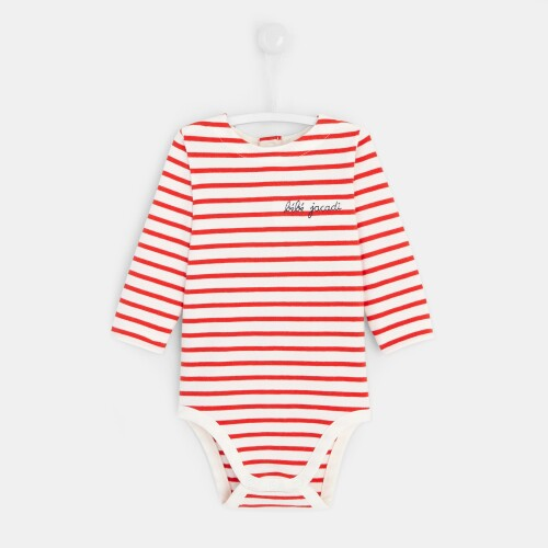 Baby boys striped bodysuit