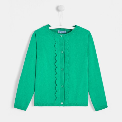 Girl scalloped cardigan