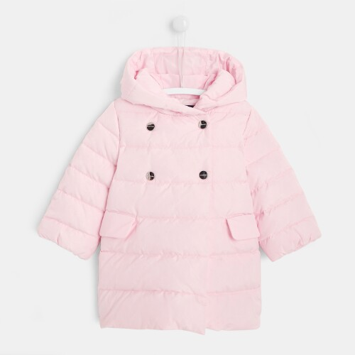 Toddler girl long puffer jacket