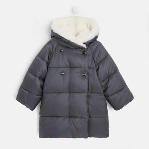 Toddler girl mid-length puffer jacket