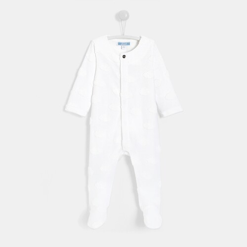 Baby boy little clouds footed pajamas