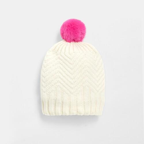 Girl pompom hat