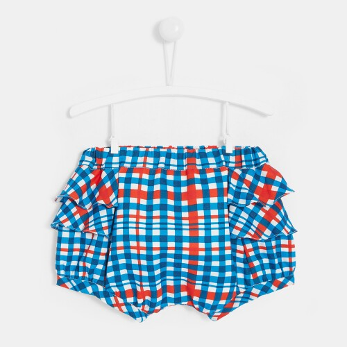 Toddler girl checked bloomers