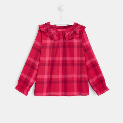 Girl flannel blouse