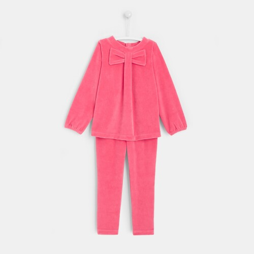 Girl velvet pajamas
