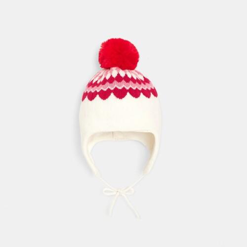 Toddler girl pompom hat