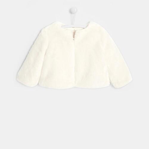 Toddler girl faux-fur jacket