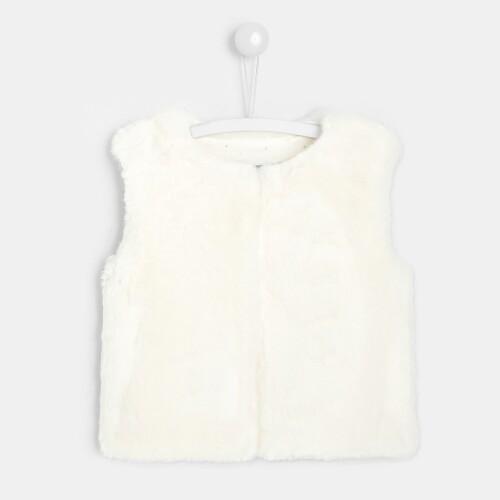 Toddler girl faux-fur sleeveless vest
