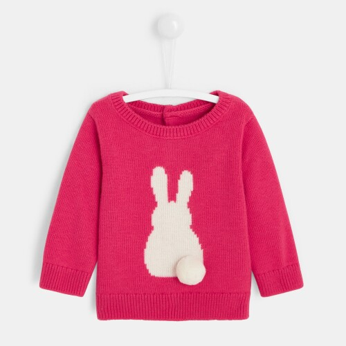 Baby girl little rabbit sweater