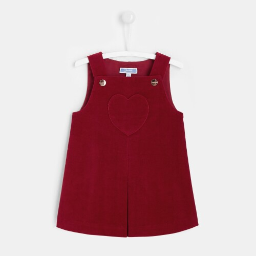 Toddler girl corduroy pinafore dress