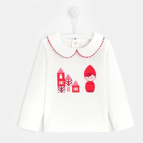 Toddler girl illustrated T-shirt