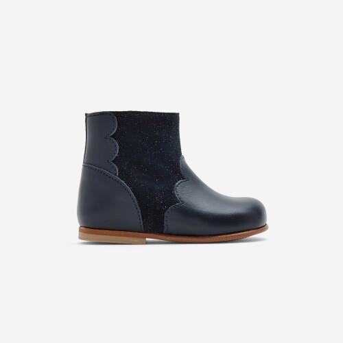 Baby girl bi-material boots