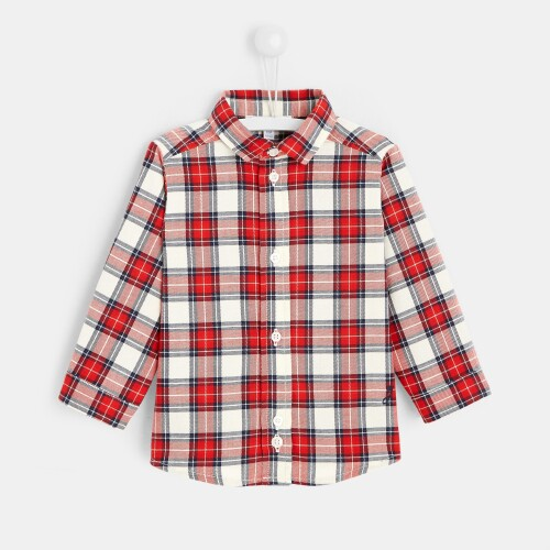 Toddler boy checked shirt