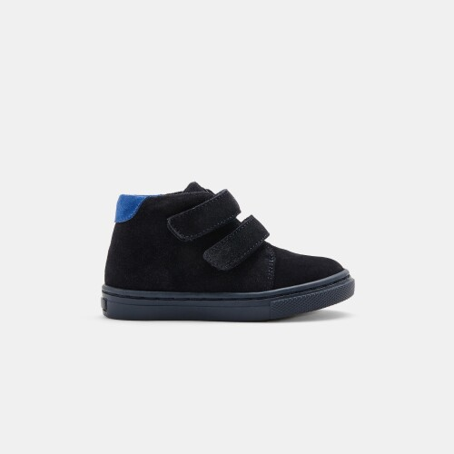 Baby boy split leather ankle boots