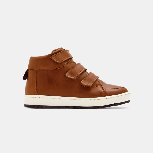 Boy high-top leather sneakers