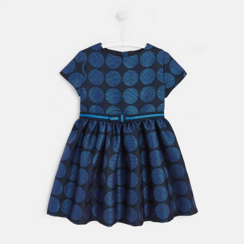 Girl jacquard polka dot Holiday dress