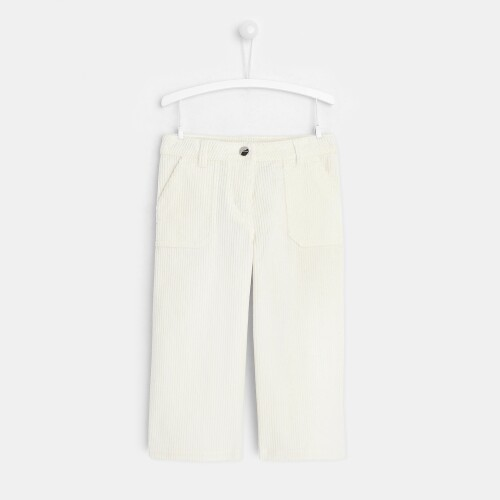 Girl ribbed corduroy pants