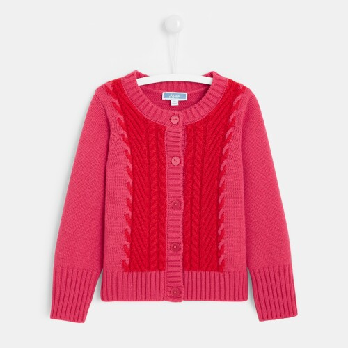 Girl color block cardigan