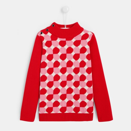 Girl high neck sweater