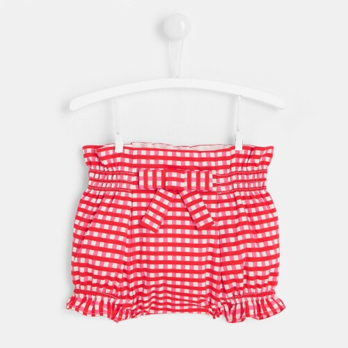 Baby girl gingham diaper cover