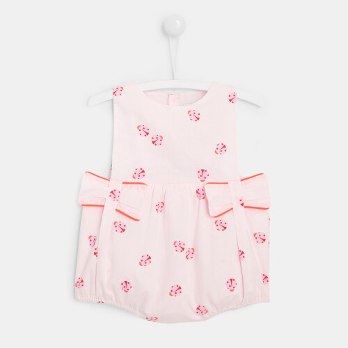 Baby girl bloomers with ladybug print