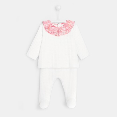 Baby girl fleece pants set