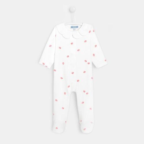Baby girl little ladybug footed pajamas